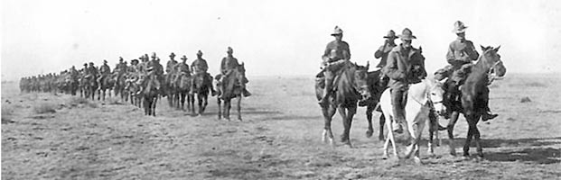 10th Cavalry Buffalo Soldiers on patrol in Mexico