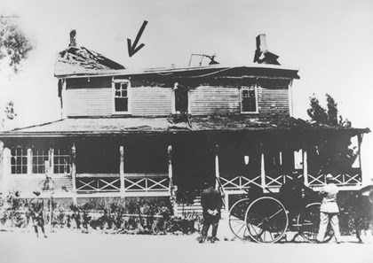 The Pershing house after the fire
