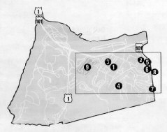 This map of the Presidio shows the insert of significant sites connected to the post's history during the Spanish American War