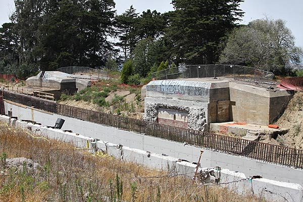Battery Slaughter and Presidio Parkway construction.