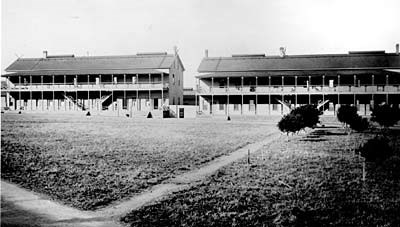 Buffalo Soldiers may have lived in one of these barracks on the Main Post on the Presidio.