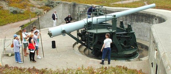 Demonstration at Battery Chamberlin