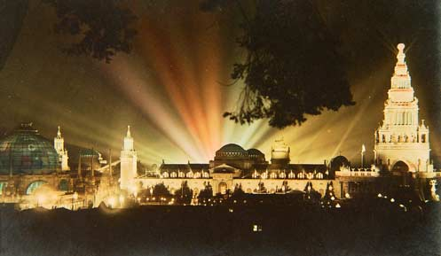 The fair at night