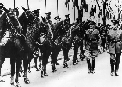 Pershing on a troop review