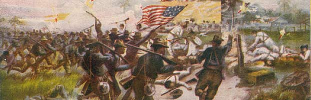 The battle for San Juan Hill, Cuba.  July 1, 1898.