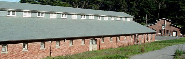 The stables at the Presidio were built in 1914.