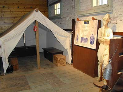 The Buffalo Soldier exhibit includes hands on items like saddles and buffalo hides.