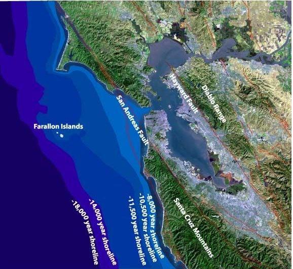 Sea Level Rise Since The Last Glaciation Presidio Of San - Map of us after sea level rise