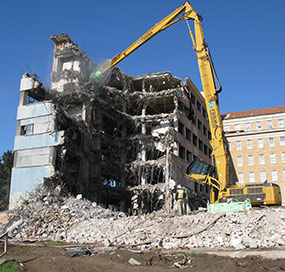 Demolition of 1950s Public Health Service Hospital wings