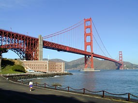 Golden Gate Bridge from near Fort Point