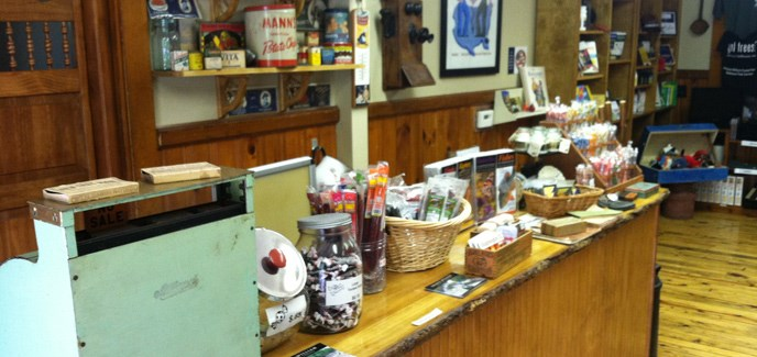 The Country Store filled with antiques and merchandise available for sale