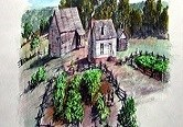 Artist rendition of the Bennett Plantation