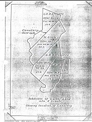 hand-drawn map of the Carter property that was purchased by the government