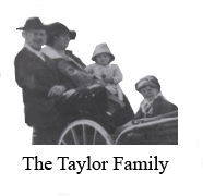 historic photo of the Taylor Family - mom, dad, and two children