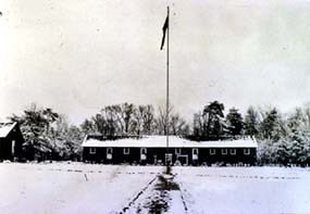 Chopawamsic CCC camp in the snow.