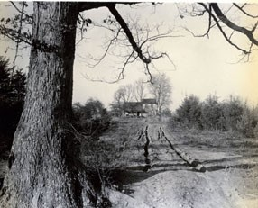 Historic image of a farm on land that is now Prince William Forest Park