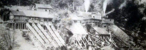 the pyrite mine circa 1900
