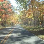 the scenic drive in fall