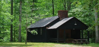 A historical cabin at Prince William Forest Park.