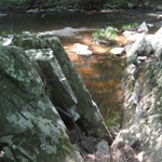 Geology formation in the Quantico Creek