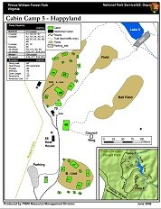 Map of Cabin Camp 5