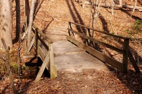 Footbridge on High Meadows Trail