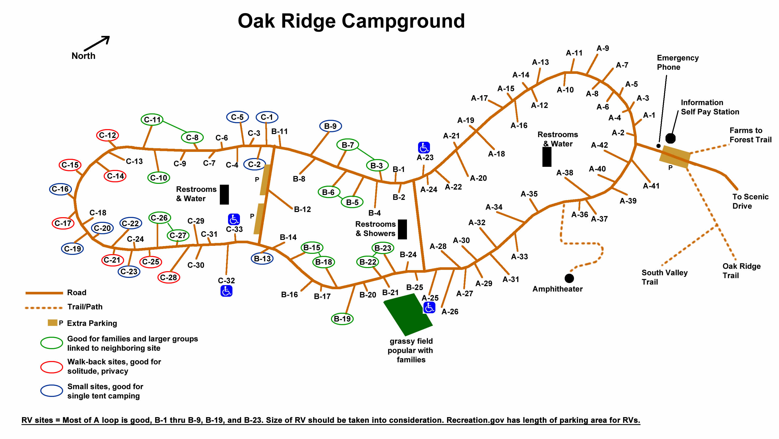 Oak Ridge Campground Prince William Forest Park US National - Map of us national forest