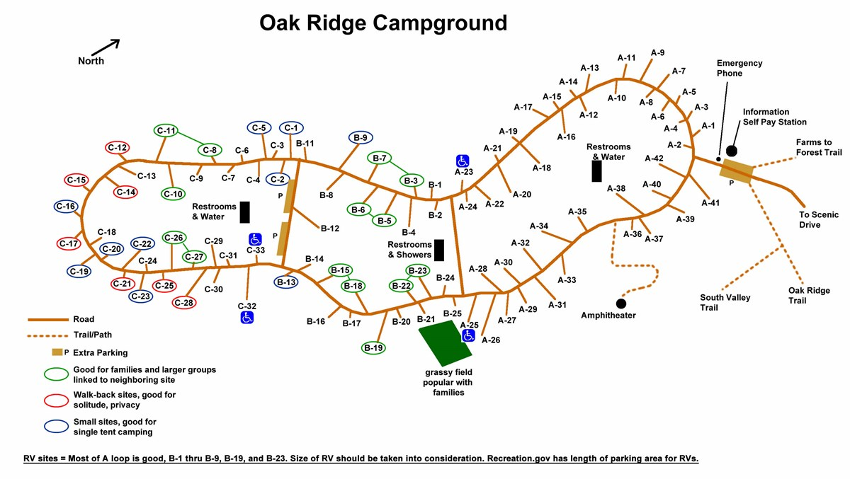 Oak Ridge Campground Prince William Forest Park U S