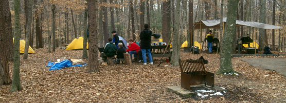 campers at turkey run