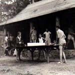 ping pong at camp one, 1936