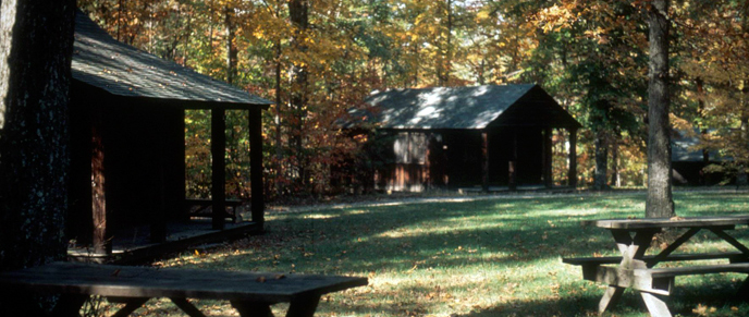 cabins at cabin camp 3 in autumn