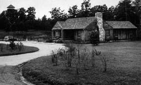 The park visitor center in 1956.