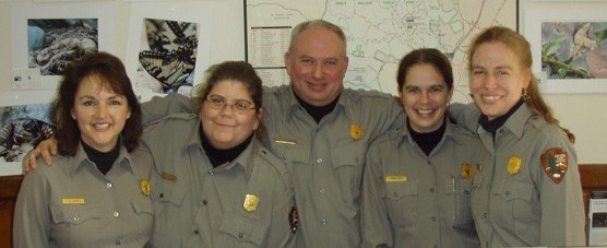 Group of Prince William Forest Park rangers