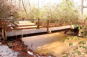 Footbridge on North Valley Trail