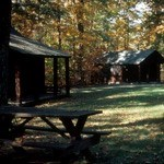 Cabins in autumn in Cabin Camp 3