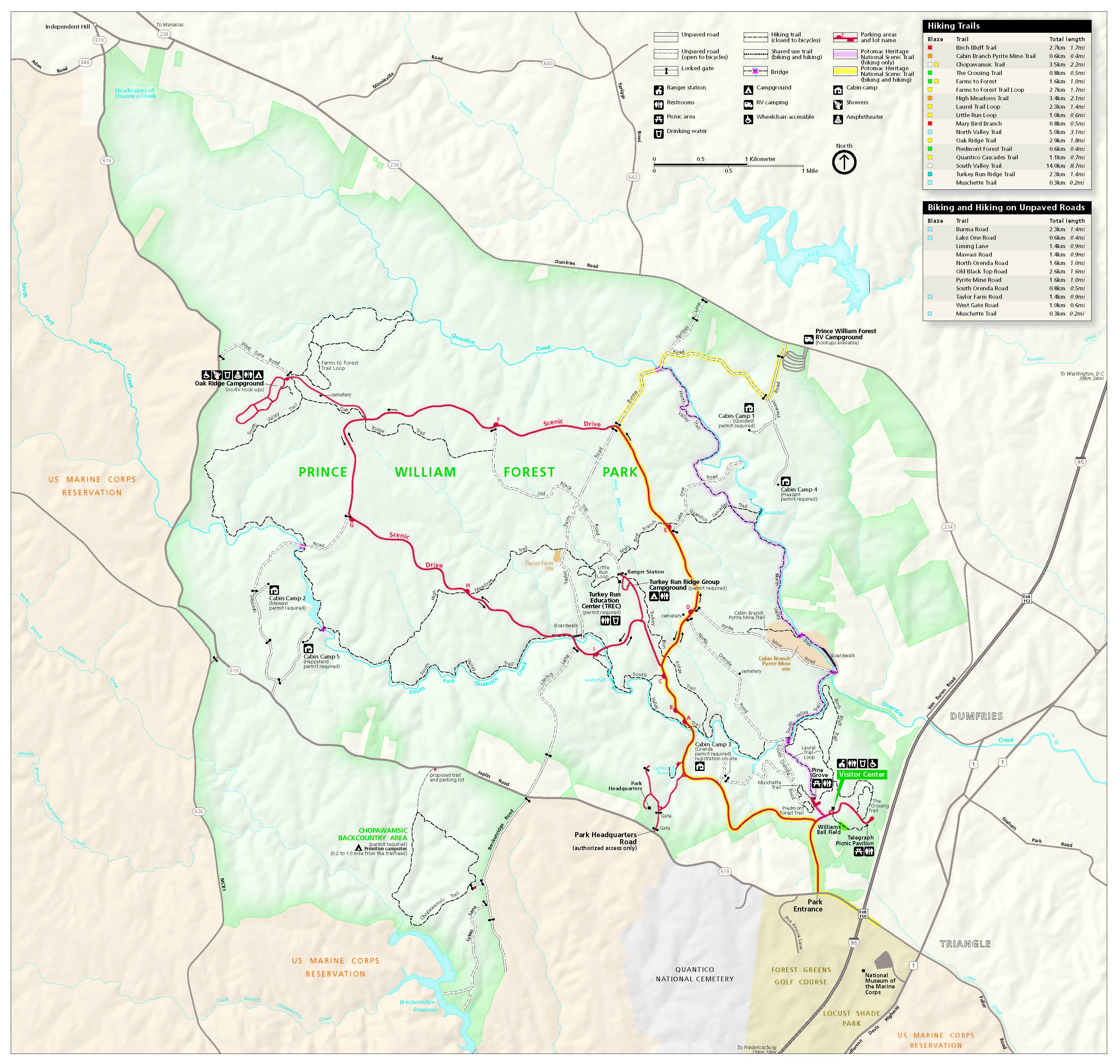 Maps - Prince William Forest Park (U.S. National Park Service)