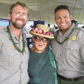 Park staff at the 2009 King Kamehameha Day celebrations in Kapa'au.