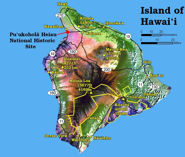 Map of the Big Island