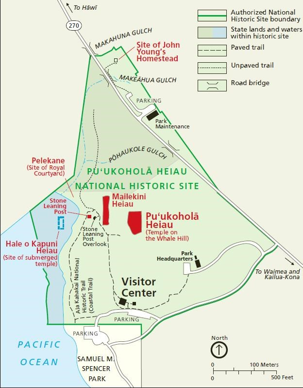 Map of Pu'ukohola Heiau National Historic Site