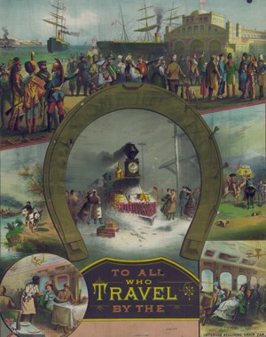 Promotional Print for Travel Agency containing Pullman Car Centered