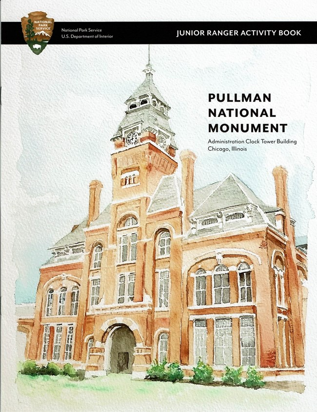 The cover of the junior ranger book for Pullman National Monument
