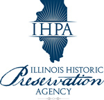 Silhouette of Illinois with IHPA Logo Illinois Historic Preservation Agency