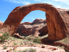 Rainbow Bridge National Monument from the observation area.