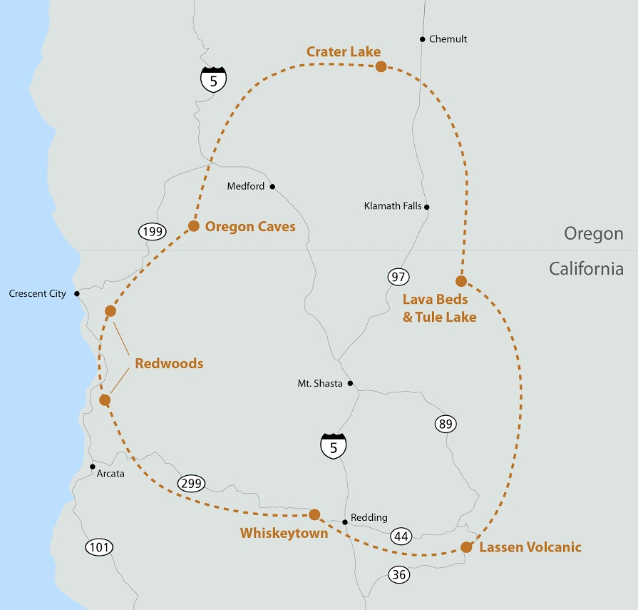 Orick California Map.Circle Of Discovery Redwood National And State Parks U S