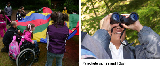 parachute games and I Spy