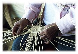 American Indian basketweaver