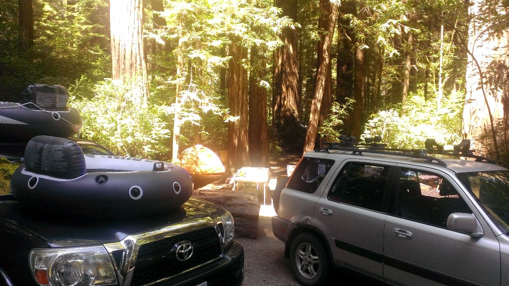 Cars parks in campground