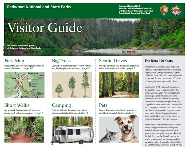 Front cover of 2017 visitor guide