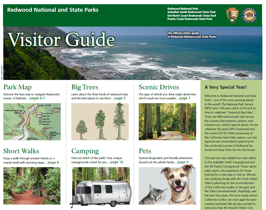 2016 Visitor Guide front page