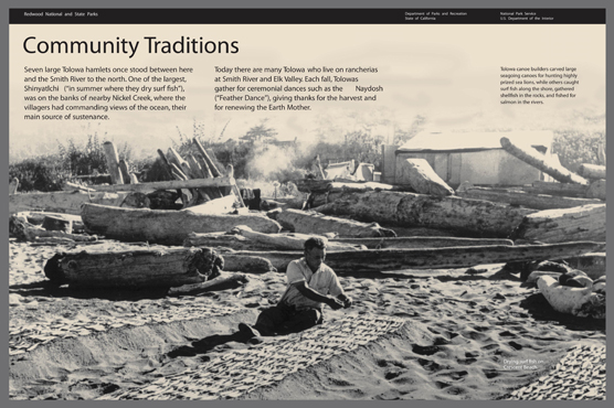 Community Traditions outdoor exhibit